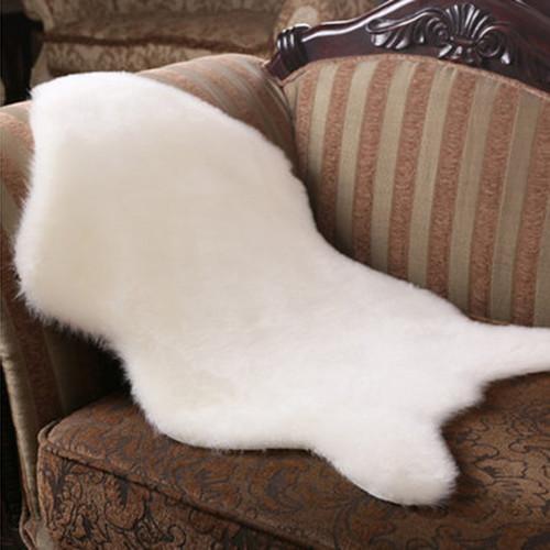 weichen schaffell stuhl f r k nstliche wolle warm haarigen teppich sitzpolster q ebay. Black Bedroom Furniture Sets. Home Design Ideas