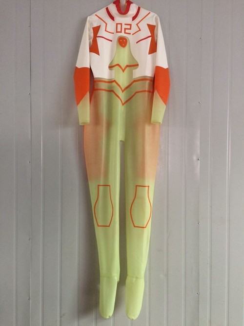 New 100/% Latex Rubber Catsuit With Mask Transparent Tights Bodysuit Size XXS-XXL