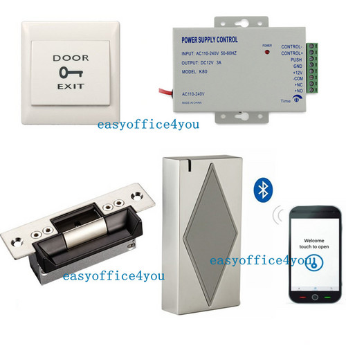 Details about Bluetooth Smart Door Entry Access Control Systems ANSI Strike  Lock Power Supply